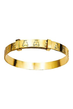 Kids 9ct Gold Rolled Teddy Bangle