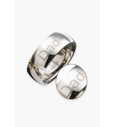 Image for Gents Stainless Steel 8mm Band Ring from ace