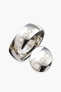 Gents Stainless Steel 8mm Band Ring