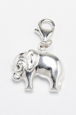 Silver Elephant Charm For Silver Br...