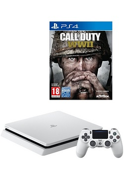PS4 500GB + Call Of Duty WWII
