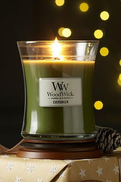 Woodwick Medium Candle - Evergreen