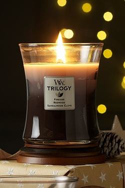 Woodwick Warm Woods Medium Trilogy ...