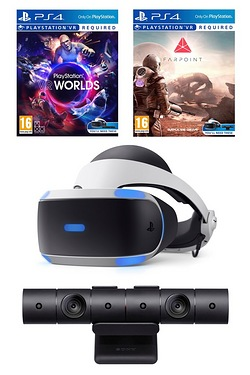 PS VR Bundle With Farpoint and VR Worlds and Camera