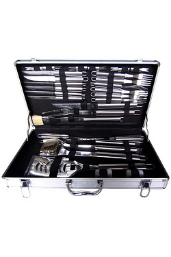 32-Piece BBQ Utensil Set with Case