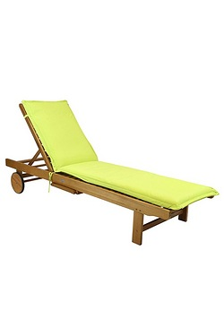 Sun Lounger Cushion - Lime Green
