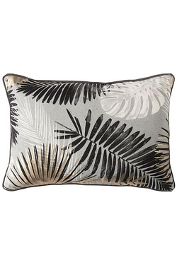 Monochrome and Gold Palm Leaves Cus...