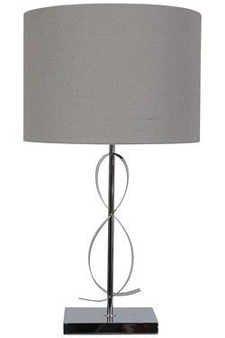 Ardley Silver Table Lamp With Shade