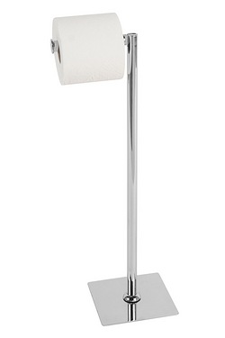 Chrome Effect Toilet Roll Stand