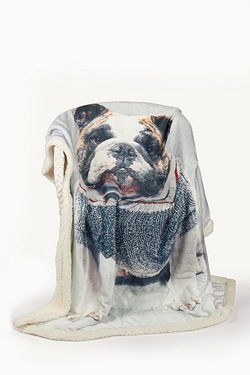 Bulldog Polar Fleece Throw