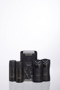 Lynx Black Mini Tin Gift Set