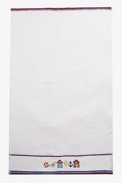 Summer Holiday Embroidered Towels