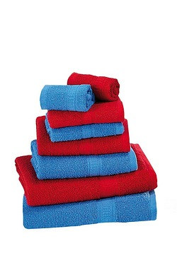 8-Piece Red/Navy Duo Towel Bale