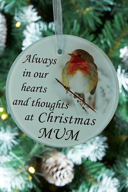 Memorial Glass Decoration Mum