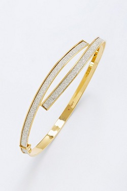 9ct Stardust Curve Over Bangle