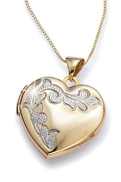 Engraved I Love You Heart Locket