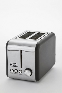 EGL Matt Black 2-Slice Toaster