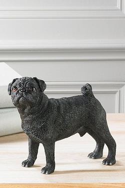 Black Pug Figurine