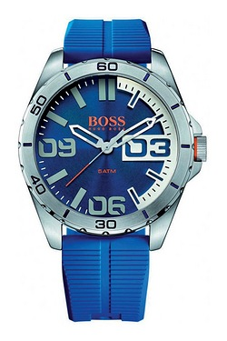 Hugo Boss Berlin Blue Silicone Stra...