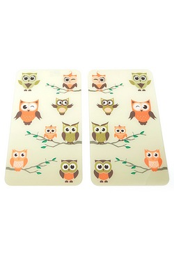 Set Of 2 Cover Plates - Owl Family