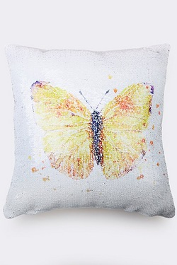 Sequin Cushion - Butterfly