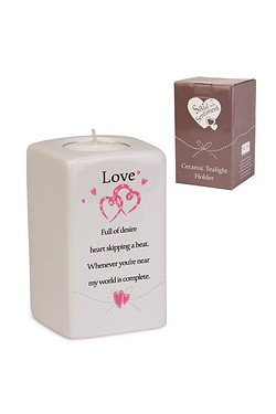 Love Said With Sentiment Tea Light Holder