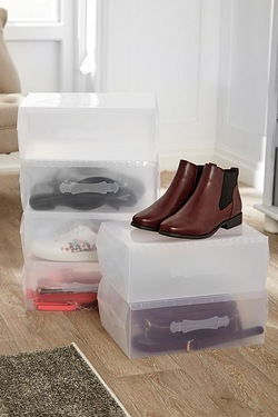 Set Of 6 Shoe/Bag Storage Boxes