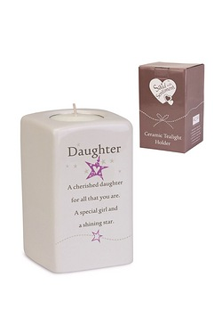 Daughter Said With Sentiment Tea Light Holder