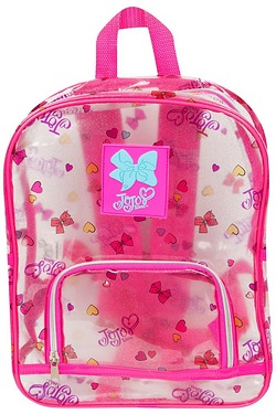 JoJo Siwa Transparent Glitter Backpack