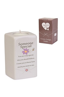 Someone Special Said With Sentiment Tea Light Holder