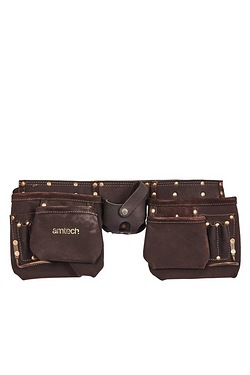 12 Pocket Heavy Duty Leather Tool Belt
