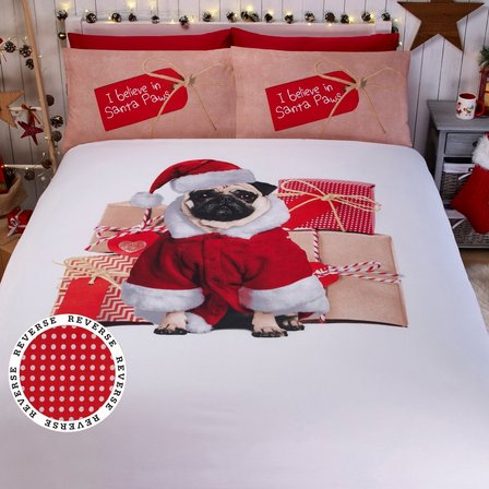 Image for Christmas Pug Duvet Set from ace
