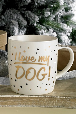 Mad Dots Mug - Dog
