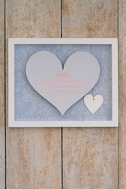 Said With Sentiment Heart Frame - Sister