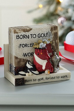 Born To Golf Coasters and Holder