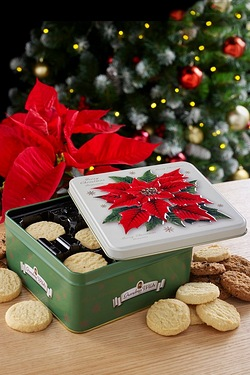 Poinsettia Biscuit Tin