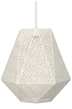 Overton Cream Metal Pendant