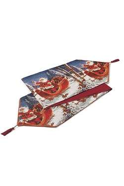 Santa Claus Sleigh Tapestry Table R...