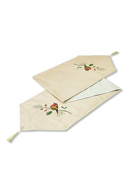 Robin Embroidered Table Runner