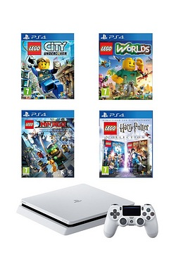 PS4 500GB White Console + LEGO Game...