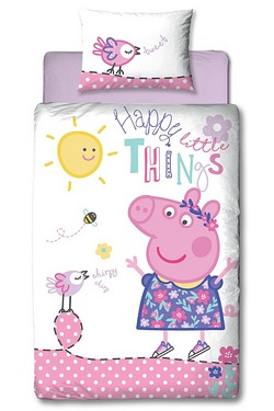 Peppa Pig Happy Single Panel Duvet