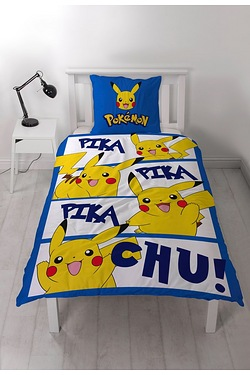 Pokemon Action Single Panel Duvet