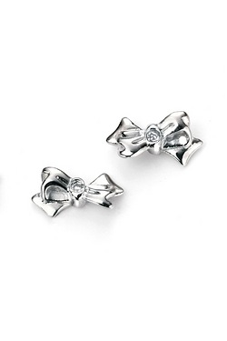 D For Diamond Bow Studs Earrings