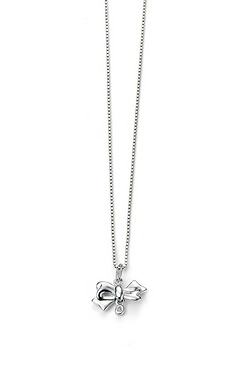 D For Diamond Bow Pendant