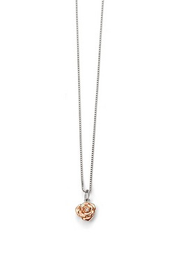 D For Diamond Rose Pendant