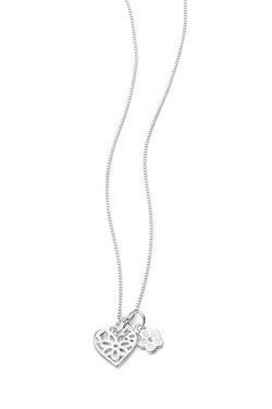 D For Diamond Double Pendant Heart ...