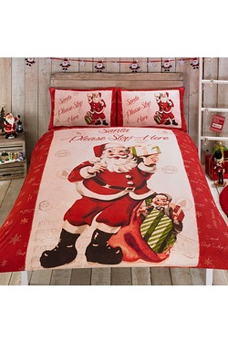 Retro Santa Duvet Set
