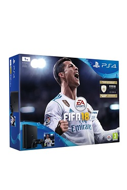 PS4 500GB Console + FIFA 18 + 2 Dualshock 4 Controllers
