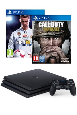 PS4 Pro Console + FIFA 18 + Call Of...