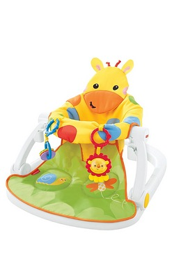 Fisher Price Giraffe Sit Me Up Floor Seat With Tray